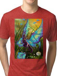 We Ride at Dawn - Mouse Warrior Riding Fairy Dragon Tri-blend T-Shirt
