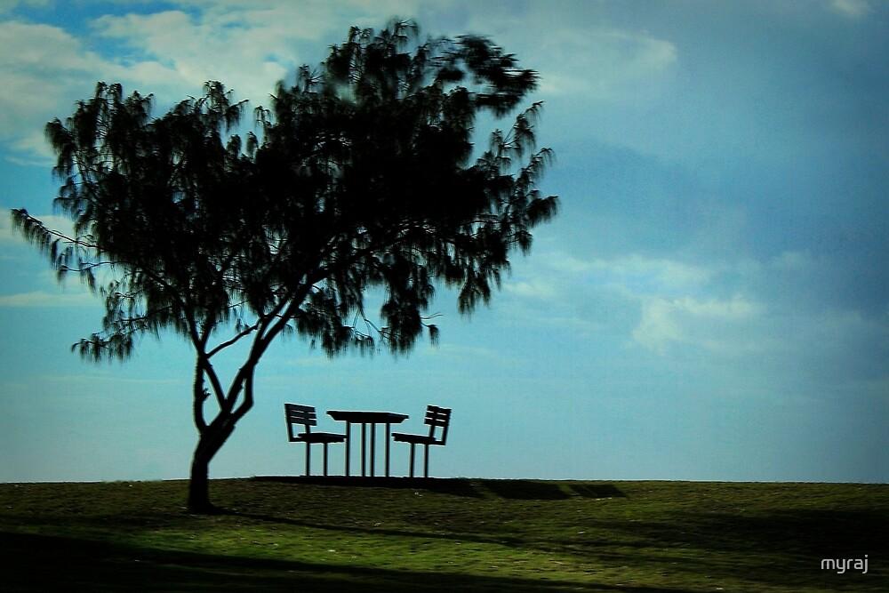 Lonely setting at Hervey Bay by myraj