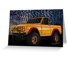 Yellow Dog Bronco Crisp Christmas Morning Romp Greeting Card