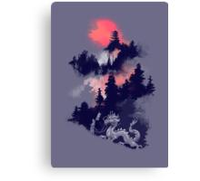 Samurai's life (violet hue) Canvas Print