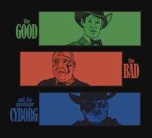 The Good, The Bad and The Gunslinger Cyborg by BADSketching Illustration
