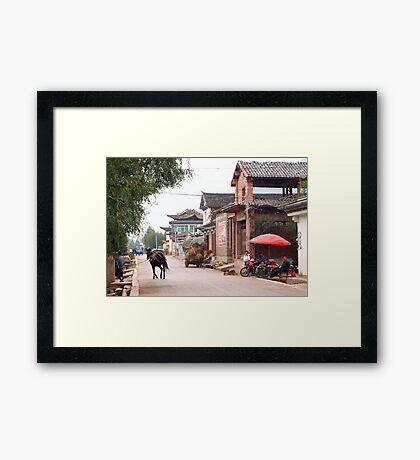 the mainstreet Framed Print
