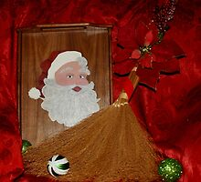 Hand Painted Santa Tray by christalscamera