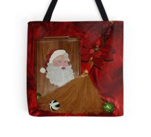 Hand Painted Santa Tray Tote Bag