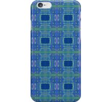 blue/ lime stripes and rectangles iPhone Case/Skin