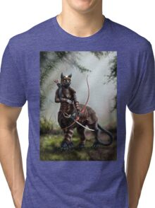 The Huntress - Felitaur Archer Tri-blend T-Shirt