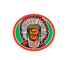 Native American Indian Chief Headdress by patrimonio