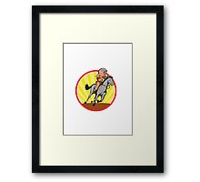 Native American Indian Chief Riding Horse Framed Print