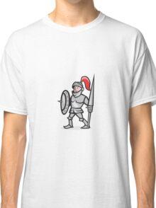 Knight Shield Holding Lance Cartoon Classic T-Shirt