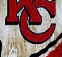 Vintage Kansas City Chiefs Designer Logo and Stadium Sticker