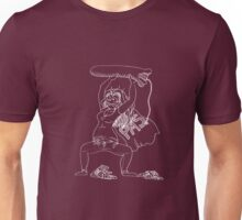 PMS Woman in White Unisex T-Shirt