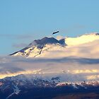 Eagle Over Mount Etna by Francis Drake