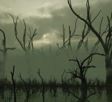 Misty Green Swamp Sticker