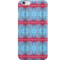 blue and red stripes iPhone Case/Skin