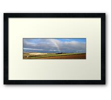 Rainbow Panorama Framed Print