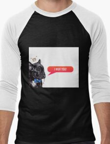 I Wuv You Frenchie  Men's Baseball ¾ T-Shirt
