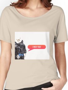 I Wuv You Frenchie  Women's Relaxed Fit T-Shirt