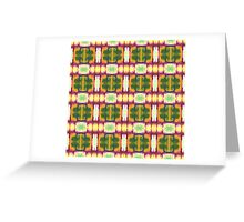 colorful rust, gold, olive blocks Greeting Card