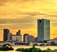 Toledo Ohio City Skyline Sticker