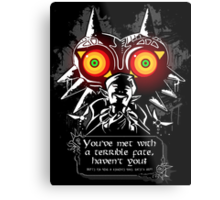 Majoras Mask - Meeting With a Terrible Fate Metal Print