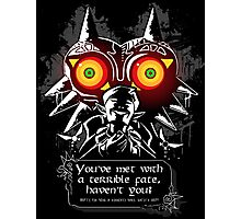 Majoras Mask - Meeting With a Terrible Fate Photographic Print