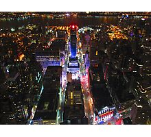 Empire State Building vista by night Photographic Print