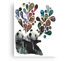 Noisey Pandas Canvas Print