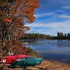 Canoes on Boot Lake by Shonda Hogan