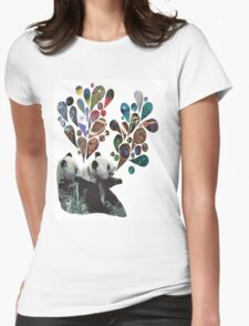 Noisey Pandas Womens Fitted T-Shirt