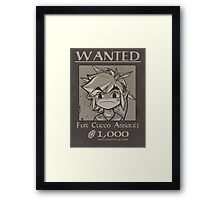 Wanted - Cucco Assault Framed Print
