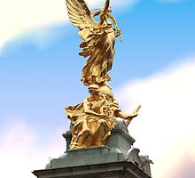 Golden Angel statue London by Richard Eijkenbroek