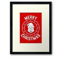 Santa's Merry Christmas Logo Framed Print