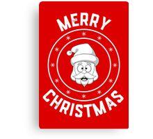 Santa's Merry Christmas Logo Canvas Print