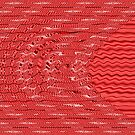 Red Circle Stripes Abstract by donnagrayson