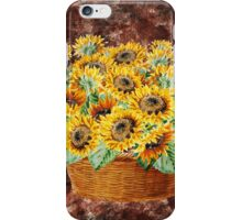 Basket With Sunflowers iPhone Case/Skin