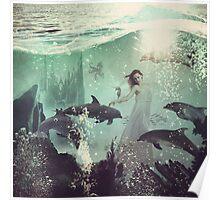 The Sea Unicorn Lady Poster