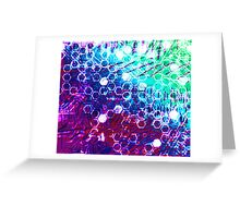 honeycomb effect Greeting Card