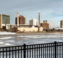 Toledo Ohio City Skyline in Winter Sticker