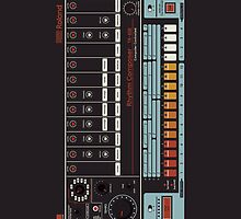 Roland TR-808 iphone case by razorcuts