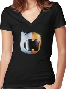 Random Access Adventures Women's Fitted V-Neck T-Shirt