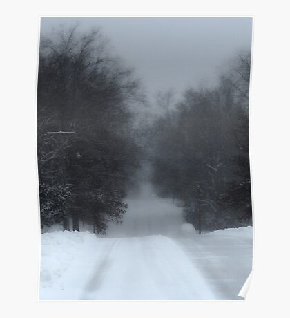 Snowy Road Poster