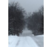 Snowy Road Photographic Print