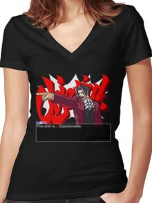 This shirt is... Objectionable Women's Fitted V-Neck T-Shirt