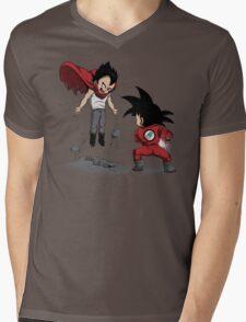 Anime Fight Mens V-Neck T-Shirt