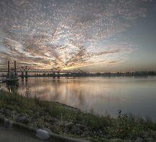 Sunset in Natchez, MS by ronburt