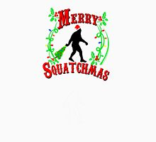 Merry Squatchmas Silhouette Womens Fitted T-Shirt