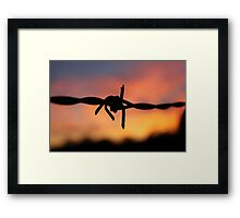 Barbed Silhouette Framed Print