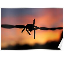 Barbed Silhouette Poster