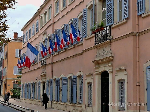 LA FRANCE - HOTEL DU VILLE by Marilyn Grimble