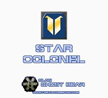 Clan Ghost Bear Rank: Star Colonel Unisex T-Shirt